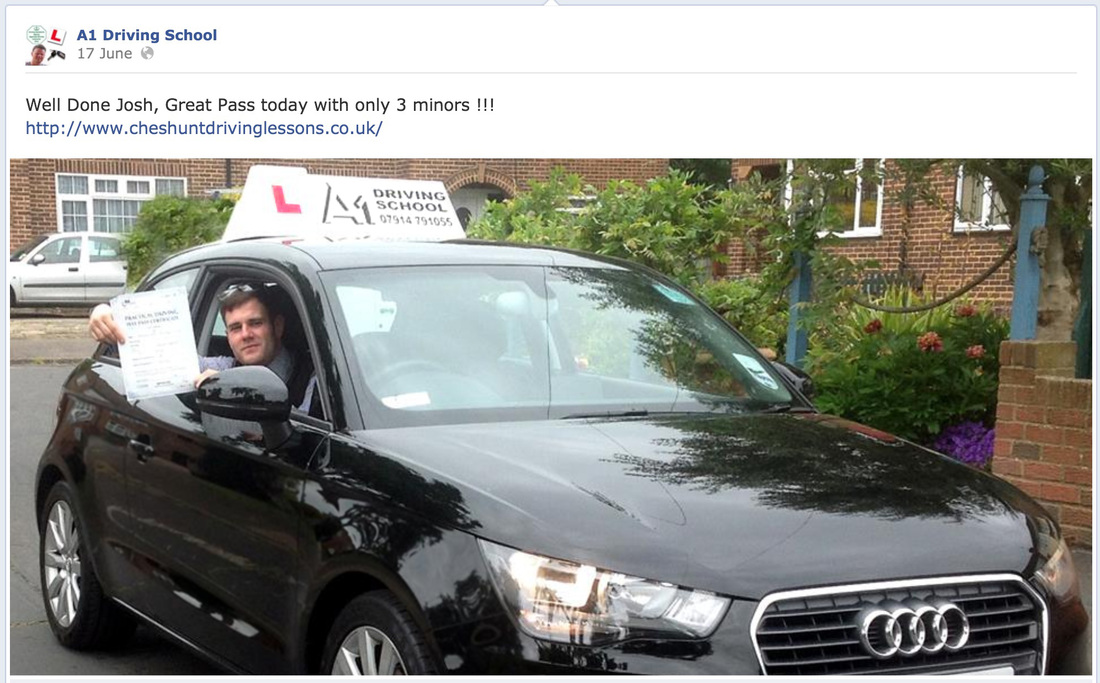brad review for driving  lessons in cheshunt