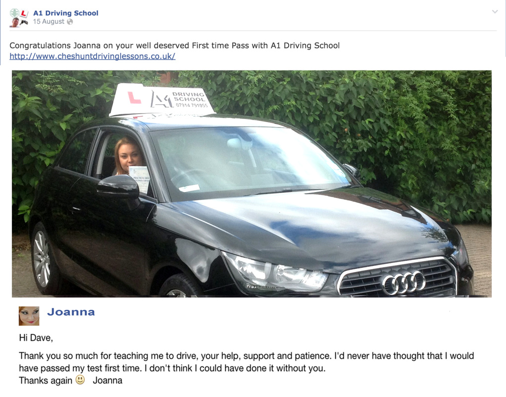joanna and her driving lessons cheshunt review