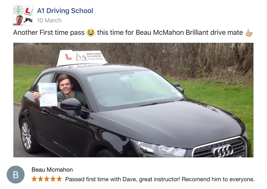 beau driving pass first time